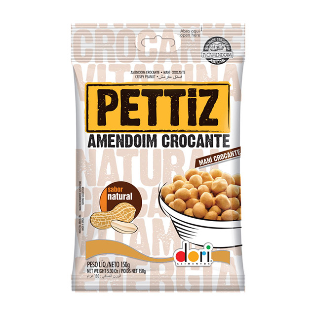 AMENDOIM PETTIZ 150G  NATURAL CROCANTE