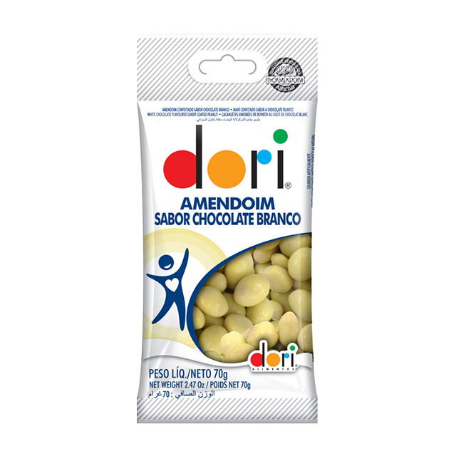 AMENDOIM DORI 70G SABOR CHOCOLATE BRANCO