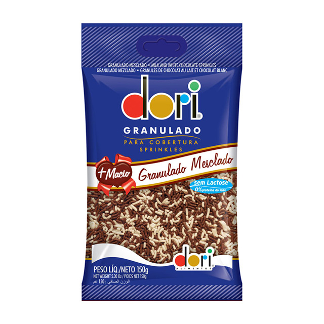 GRANULADO DORI 150G CHOCOLATE MESCLADO