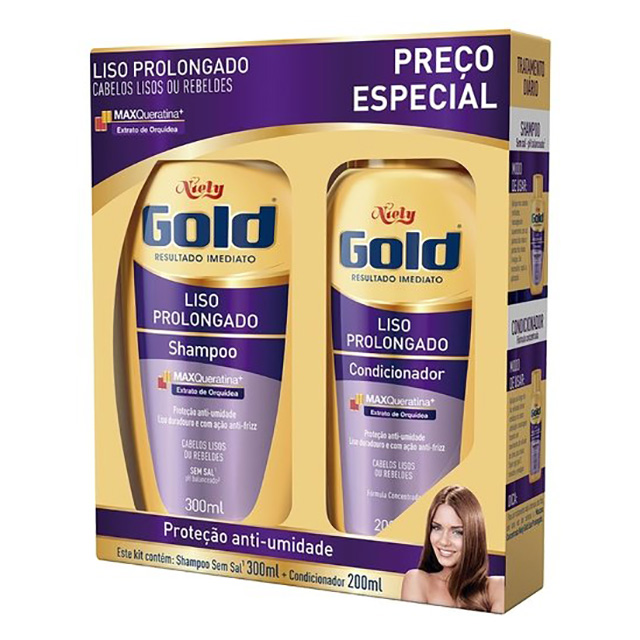 SHAMPOO NIELY GOLD 275ML+COND175ML LISO PL MP