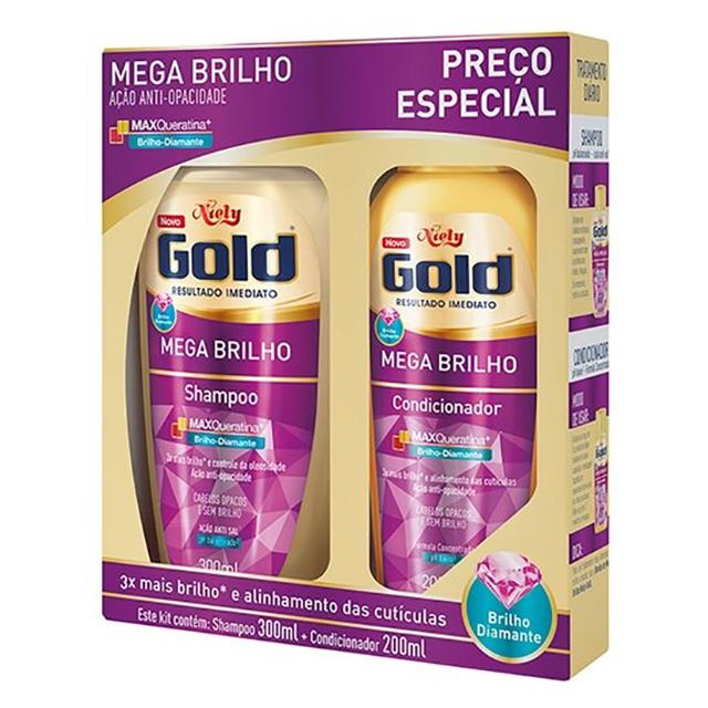SHAMPOO NIELY GOLD 275ML+COND175ML BRILHO MP