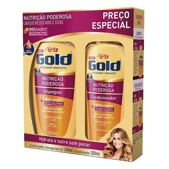 SHAMPOO NIELY GOLD 275ML+COND175ML NUTRI MP