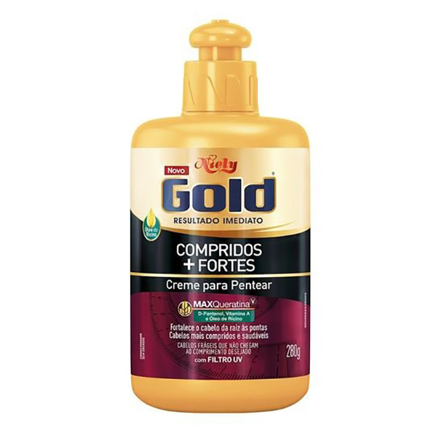 CREME PENT NIELY GOLD 250G COMPRIDOS+FORTES