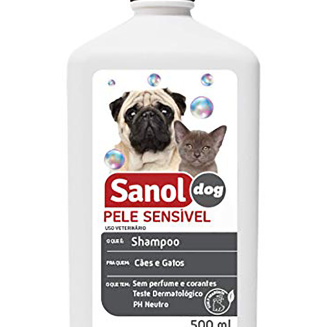 SHAMPOO SANOL DOG 500ML PELE SENSIVEL