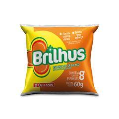 BRILHUS LA DE AÇO 8X60G