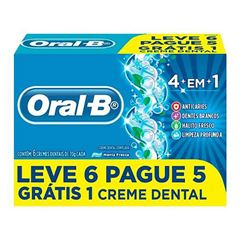 CREME DENTAL ORAL B 4EM1 MENTA 70G L6P5