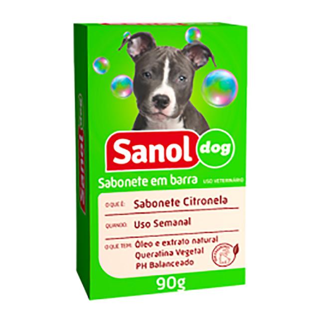 SABONETE EM BARRA SANOL DOG 90G CITRO