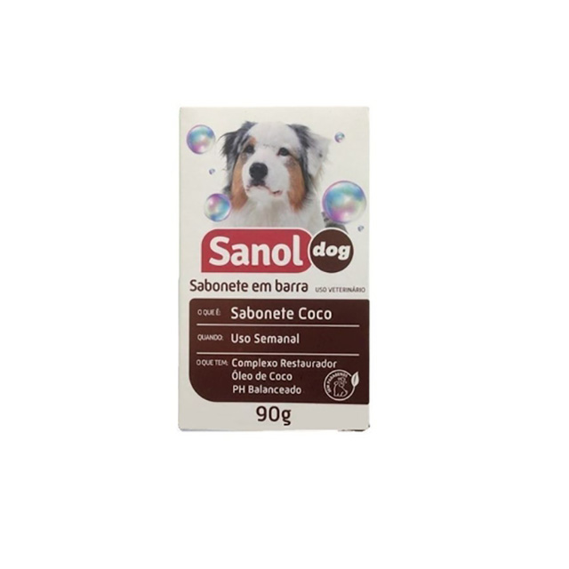 SABONETE EM BARRA SANOL DOG 90G COCO