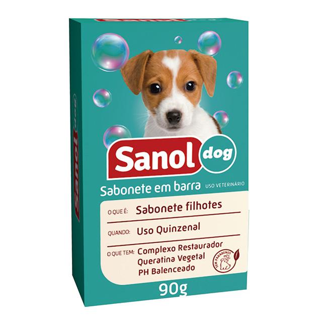 SABONETE EM BARRA SANOL DOG 90G FILHOTES