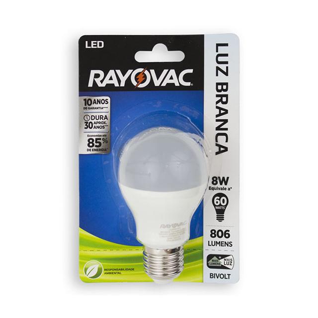 LAMPADA LED 9W 60V RAYOVAC LUZ BRANCA