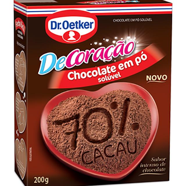 CHOCOLATE DR.OETKER 200G EM PO 70% CACAU