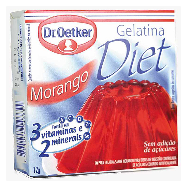 GELATINA DR.OETKER 12G DIET MORANGO
