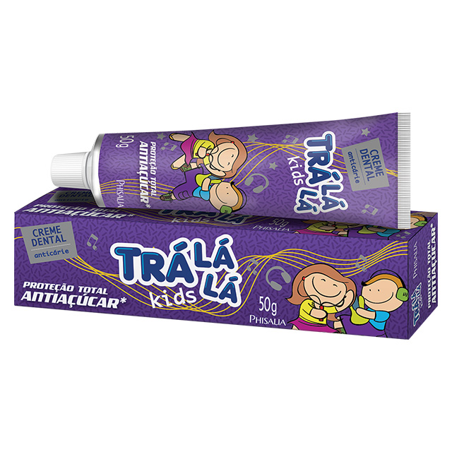 CREME DENTAL TRALALA KIDS 50G ANTIACUCAR