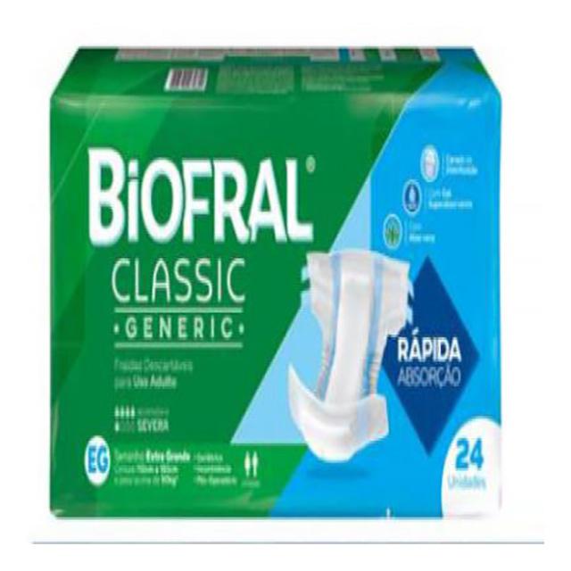 FRALDAS BIOFRAL CLASSIC EG C/24UN