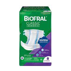 FRALDAS BIOFRAL CLASSIC G C/8UNI