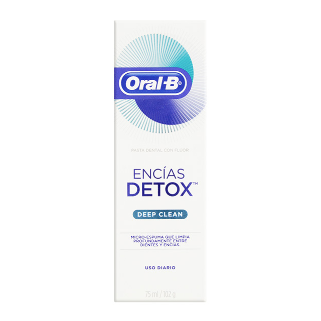 CREME DENTAL ORAL B DETOX LIMP PROF 102G