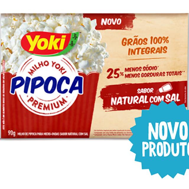 PIPOCA MICRO YOKI 90G NATURAL C/SAL