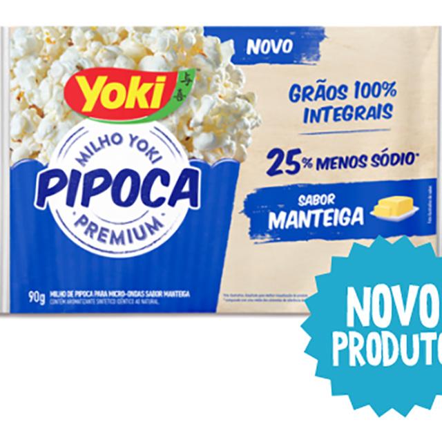 PIPOCA MICRO YOKI 90G MANTEIGA