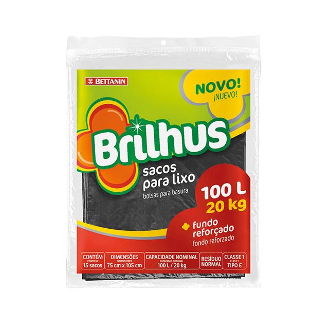 SACO P/LIXO BRILHUS ALMOFADA 100L