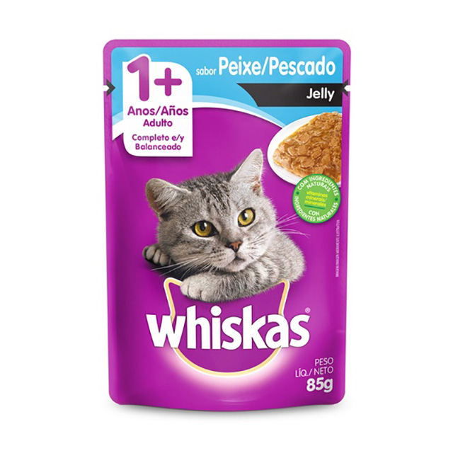 WHISKAS POUCH JELLY ADULTO PEIXE 85G