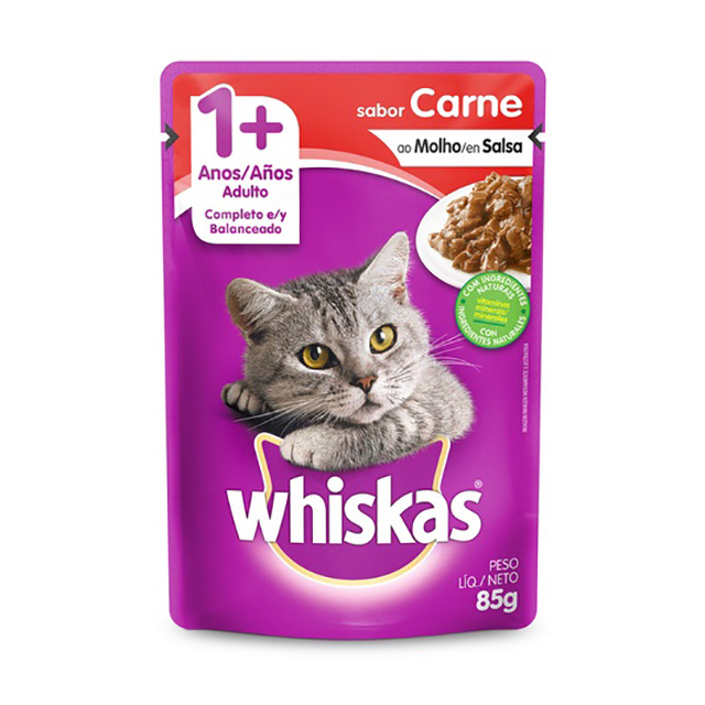 WHISKAS POUCH ADULTO CARNE 85G