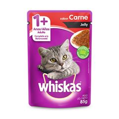 WHISKAS POUCH JELLY ADULTO CARNE 85G