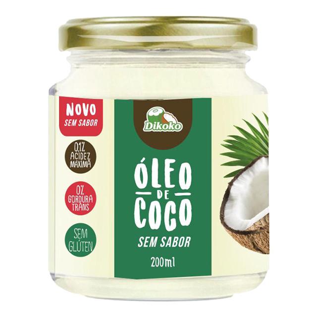 OLEO DE COCO DIKOKO 200ML SEM SABOR