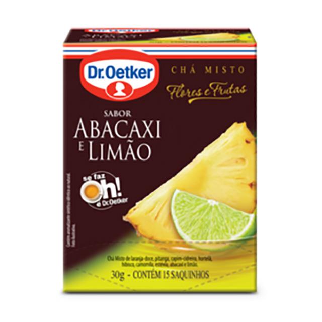 CHA DR.OETKER 30G F&F ABACAXI/LIMA C/15