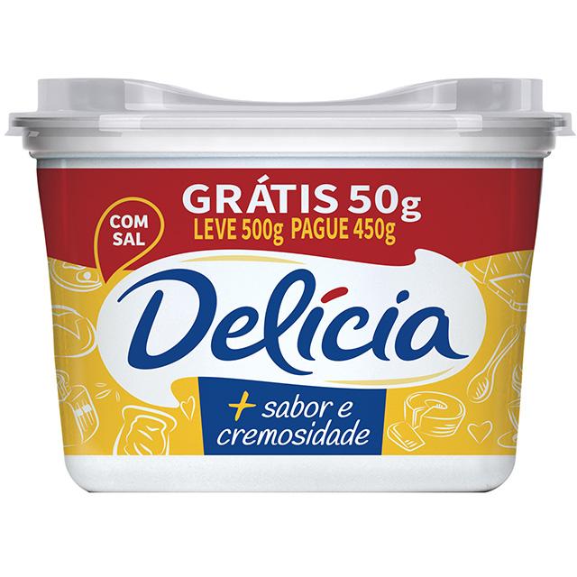 MARGARINA DELICIA L500 P450G CREM C/SAL