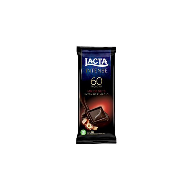 LACTA 17X85G 60% CACAU M NUT