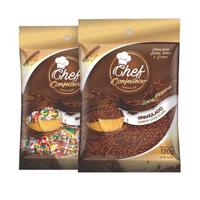 GRANULADO CHEF CONF 120G CHOCOLATE