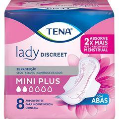 ABSORVENTE TENA LADY DISCREET MINI PLUS C/8UN