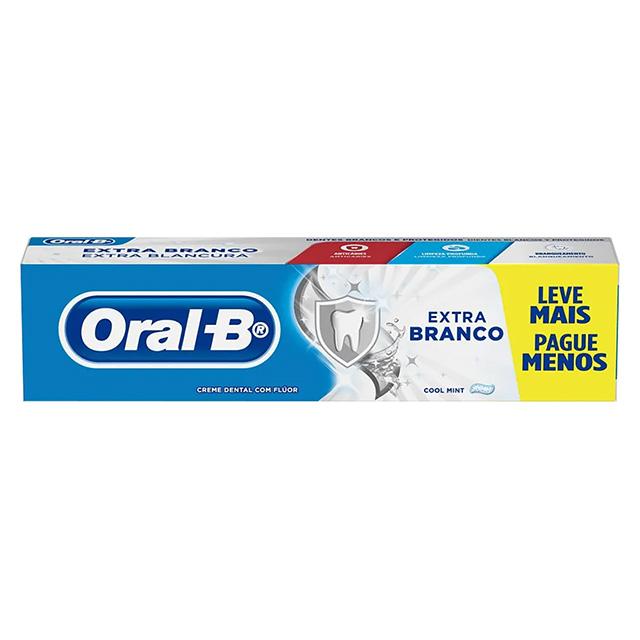 CREME DENTAL ORAL B EXTRA BRANCO 150G