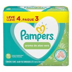 LENÇO UMED PAMPERS ALOE L4P3 C/192UN