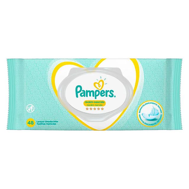 LENÇO UMED PAMPERS RECEM NASC C/48UN