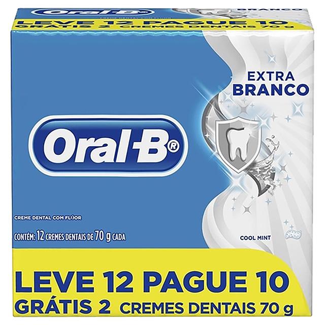 CREME DENTAL ORAL B EXTRA BRANCO 70G L12P10
