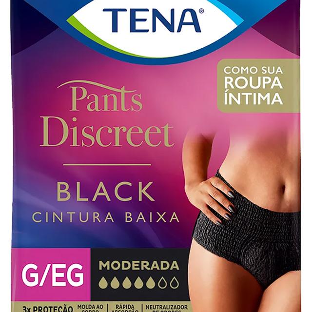 ROUPA INTIMA TENA PANTS DISC BLACK G/EG C/8