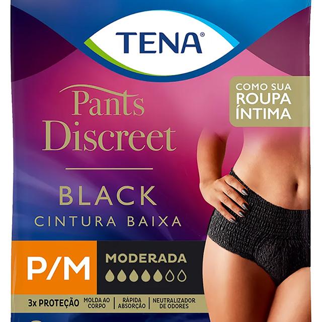 ROUPA INTIMA TENA PANTS DISC BLACK P/M C/8UN