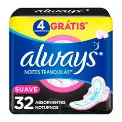 ABSORVENTE ALWAYS EXT NOTURNO SUAVE C/ABAS 32UN