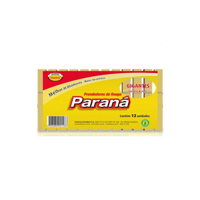 PRENDEDOR PARANA MADEIRA GIGANTE C/12UN