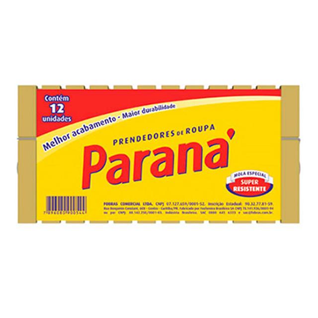 PRENDEDOR PARANA MADEIRA C/12UN