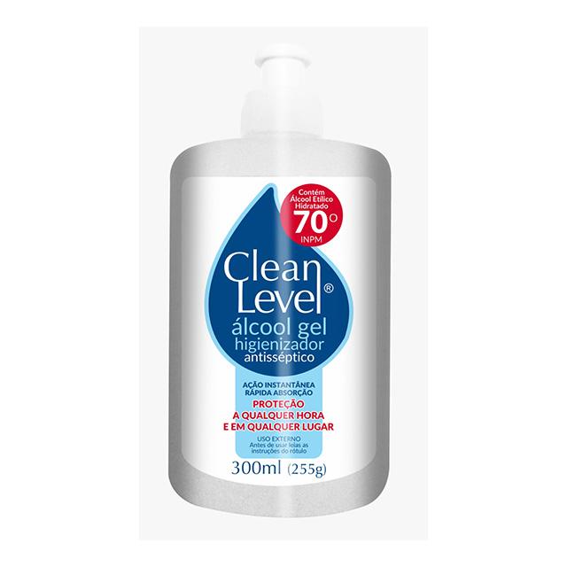 ALCOOL GEL CLEAN LEVEL 70% 300ML
