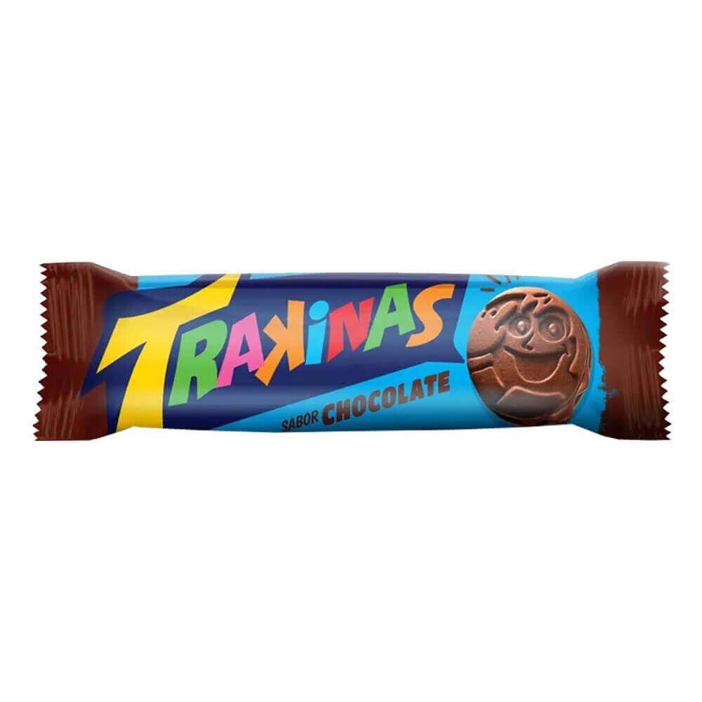 BISCOITO RECHEADO TRAKINAS 126G CHOCOLATE