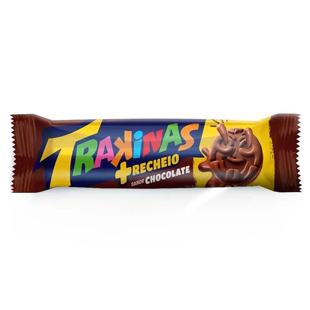 BISCOITO RECHEADO TRAKINAS MAIS 126G CHOCOLATE