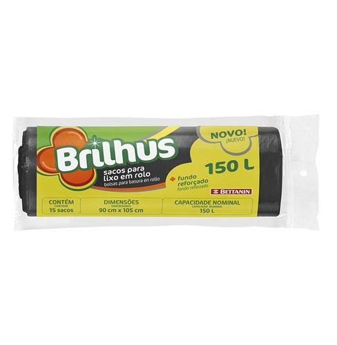 SACO P/LIXO BRILHUS ROLO 150L