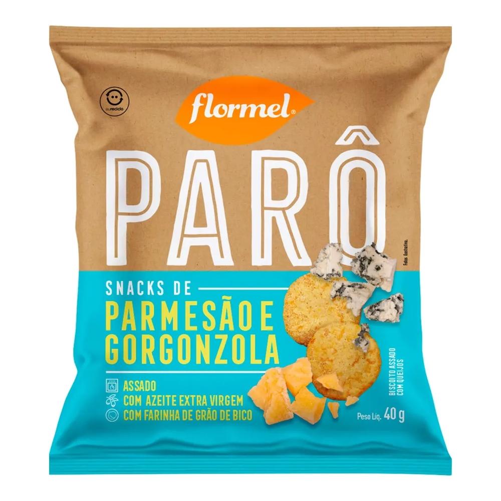 BISCOITO FLORMEL PARO 40G PARMESAO/GORGONZOL