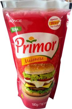 MAIONESE PRIMOR 180G SACHE