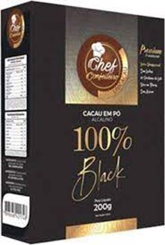CACAU PO CHEF CONFEITEIRO 100% 400G BLACK