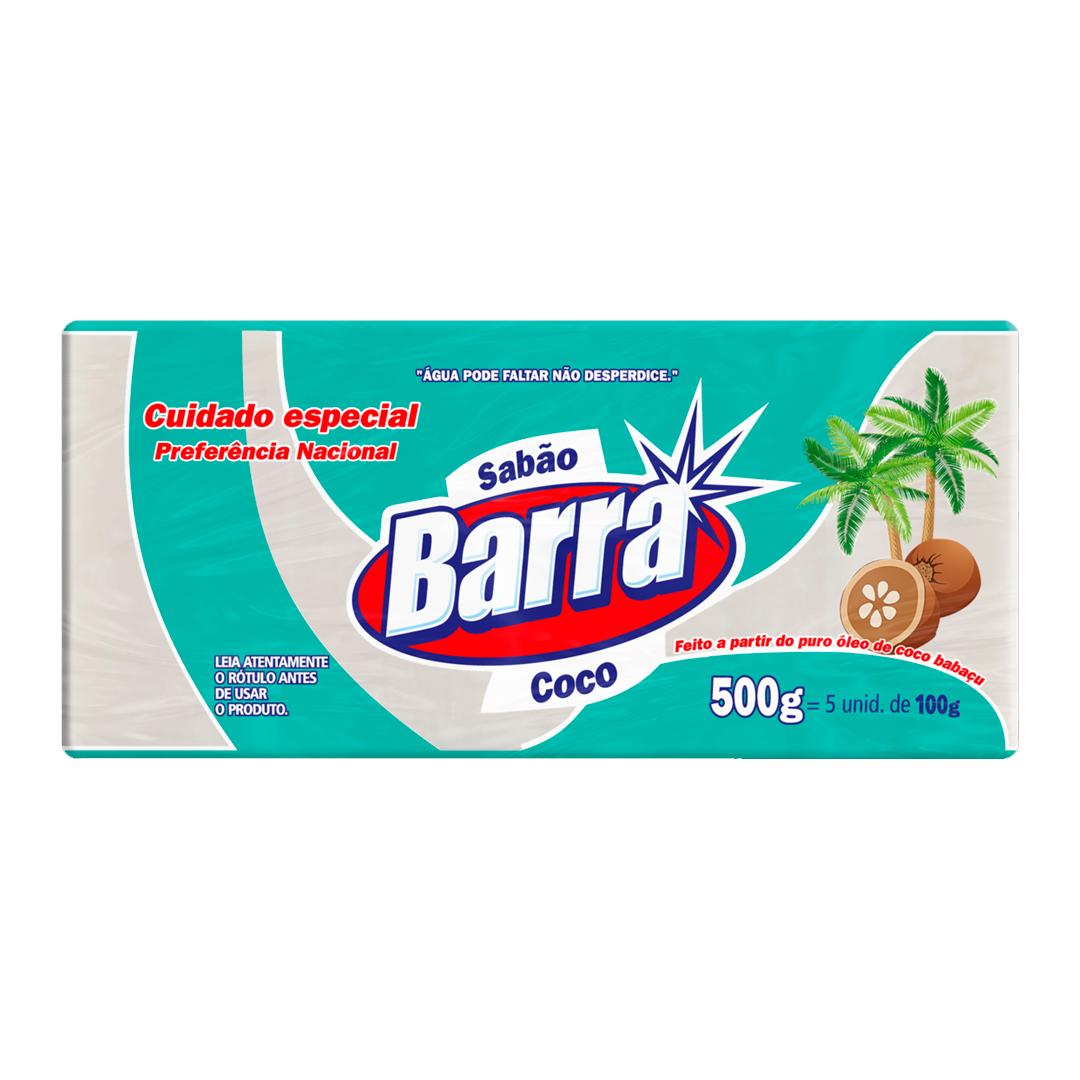 SABAO EM PEDRA BARRA 5X100G COCO