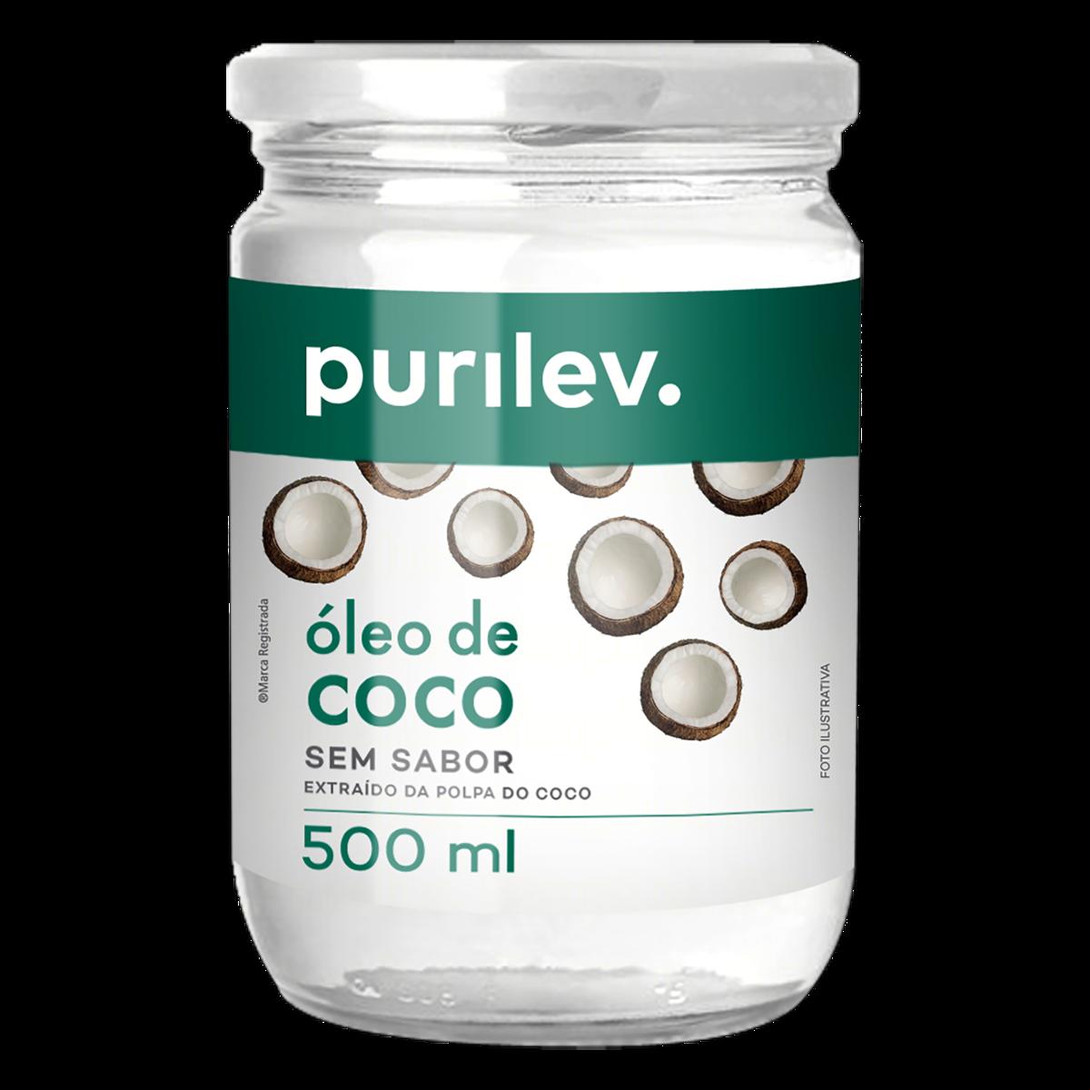 OLEO DE COCO PURILEV 500ML VD SEM SABOR
